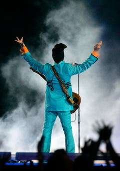 Prince 2007 beim Super Bowl in Miami. (Bild: Keystone)