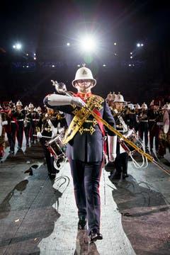 «The Band of HM Royal Marines» aus Grossbritannien (Bild: Keystone / Patrick Staub)