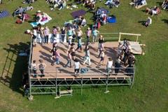 Linedancer während dem Konzert von Kim Carson am Samstag. Fotografiert am 18. Juli 2015 auf der Klewenalp (NeueLZ/Manuela Jans) (Bild: Manuela Jans (Neue LZ))