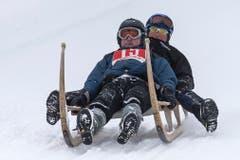 Patrick Michel und Hans Burgener aus Grindelwald (Bild: Keystone / Alexandra Wey)