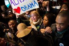 Obamas Anhänger sind glücklich. (Bild: Keystone)