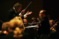 Claudio Abbado 2006 mit dem Deutschen Bariton Thomas Quasthoff. (Bild: Archiv Neue LZ)