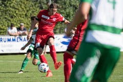 Thuns Simone Rapp, erzielt das 1:0. (Bild: Keystone / Marcel Bieri)