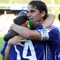 2009: Der Abstieg ist verhindert. Im letzten Spiel in der Allmend schlägt der FCL Lugano 5:0. (Bild: Philipp Schmidli)