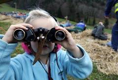 Ein Mädchen mit Fernsicht. (Bild: Werner Schelbert / Neue ZZ)