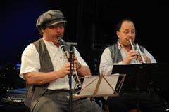 Im Festzelt auf dem Unterlehn spielte die Altdorfer Bauernmusik auf. (Bild: Urs Hanhart / Neue UZ)