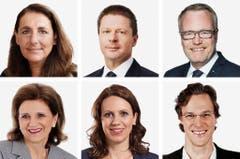 ZÜRICH (1/6) - (obere Reihe von links) bisher (bisher), SP; Martin Baeumle (bisher), GLP; Hans Egloff (bisher), SVP. (untere Reihe von links) Doris Fiala (bisher), FDP; Chantal Gallade (bisher), SP; Bastien Girod (bisher), Grüne. (Bild: Keystone / Handout)