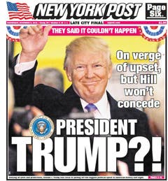 "Die amerikanische Zeitung ""New York Post"". (Bild: Printscreen)"