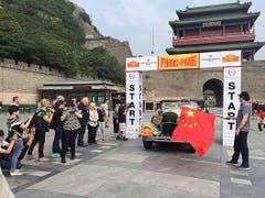 Der offizielle Start zum Rennen in Peking. (Bild: pd)