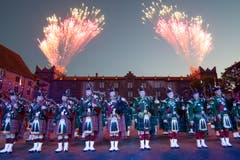 The Massed Pipes and Drums (Bild: Keystone / Patrick Staub)