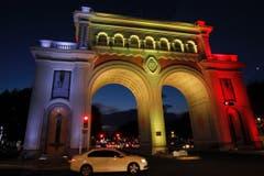 … das Denkmal Los Arcos in Guadalajara, Mexico, … (Bild: EPA/ULISES RUIZ BASURTO)
