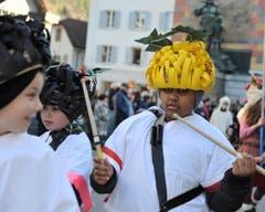 Impression der traditionellen «Schuäl-Chatzämüüsig» in Altdorf. (Bild: Urs Hanhart (30. Januar 2018, Altdorf))