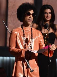 Prince bei den Grammy Awards 2015. (Bild: Keystone)