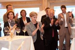 Die FDP Uri verabscheidet sich vom Fraktionspräsidentin Gabi Huber. Fotografiert am 26. September 2015 in Seedorf. NLZ Boris Bürgisser (Bild: Boris Bürgisser (Neue LZ))