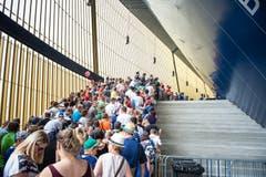 Rund 2'500 Fans kamen zur Saisoneröffnung des FC Luzern. (Bild: Roger Grütter / Neue LZ)
