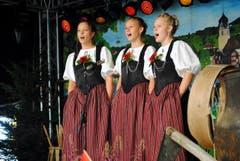 Naturjodelabig im Rahmen des diesjährigen Open Air Klewenalp. Im Bild: Die Geschwister Weber. (Bild: Rosmarie Berlinger (Neue NZ))