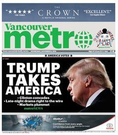 """Die kanadische Zeitung """"Vancouver Metro"""". (Bild: Printscreen)"""