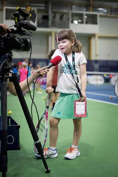 SWISS PRESS PHOTO 18 - 2. PREIS SPORT: TANJA LANDER - Kids-Day am WTA-Tennisturnier in Biel. (Bild: (SWISS PRESS PHOTO/Tanja Lander fuer Bieler Tagblatt))