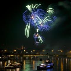 In Basel gab es ein fulminantes Feuerwerk zu bestaunen. (Bild: Keystone)