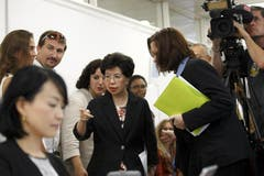 WHO-Direktorin Margret Chan bei der Pressekonferenz in Genf. (Bild: Keystone)
