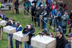 Die Schützen bei der Vorbereitung. (Bild: Keystone/ALEXANDRA WEY)