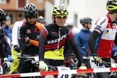 Mountainbiker am Start. (Bild: Patrick Hürlimann (Neue Zuger Zeitung))