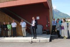 Volkswirtschaftsdirektor Othmar Filliger hält die Eröffnungsansprache. (Bild: Rosmarie Berlinger)
