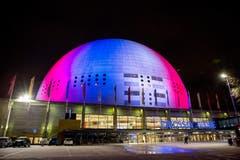 Die Ericsson Globe Arena in Stockholm. (Bild: EPA/CHRISTINE OLSSON)