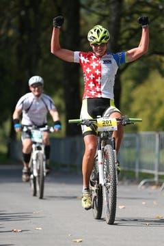 Milena Landtwing gewinnt das 88km Rennen der Damen. (Bild: Philipp Schmidli)
