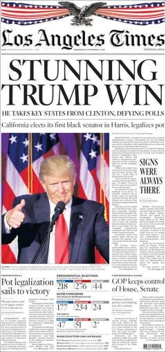 """Die amerikanische Zeitung """"Los Angeles Times"""". (Bild: Printscreen)"""
