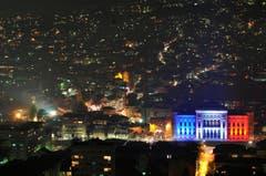 Die Stadthalle von Sarajevo. (Bild: AP Photo/Amel Emric)