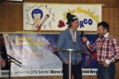 Dabei erfuhren die Anwesenden einiges über Marcos Werdegang und über seine Gefühle und Erwartungen in Sotschi. (Bild: Robert Hess (Neue OZ))
