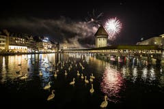 Neujahrszauber in Luzern. (Bild: Keystone)