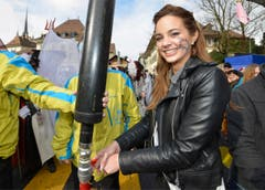 Laetitia Guarino, Miss Schweiz 2015, am Carneval in Payerne. (Bild: CHRISTIAN BRUN)