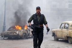 US-Schauspieler Chuck Norris wird am 10. März 75 Jahre alt. In «The Expendables 2» hatte er 2012 seinen letzten Actionfilauftritt. Wir haben zu Ehren seines Geburtstages die besten Chuck Norris Witze ausgesucht. (Bild: AP/Frank Masi)