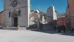 Quake in Norcia, central Italy (Bild: Keystone)
