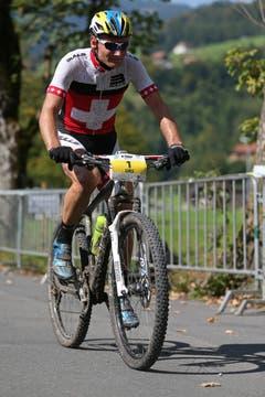 Urs Huber wird zweiter im 88km-Rennen der Herren. (Bild: Philipp Schmidli)