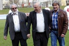 Paul Wolfisberg, Karl Odermatt und Wädi Hegglin. (Bild: Werner Schelbert / Neue ZZ)