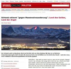 «Land des Geldes, Land der Angst», titelt der Spiegel. (Bild: Screenshot)