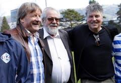 Wädi Hegglin, Paul Wolfisberg und Martin Andermatt. (Bild: Werner Schelbert / Neue ZZ)