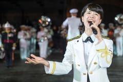 «Japan Maritime Self-Defence Force Band» aus Tokyo. (Bild: Keystone / Patrick Staub)