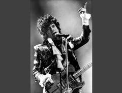 Der Sänger im Januar 1985 bei einem Konzert in Ohio. (Bild: Keystone)