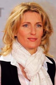"""Die Schauspielerin Maria Furtwängler posiert am 21. Februar 2007 in Berlin vor der Premiere des zweiteiligen Fernsehfilms """"Die Flucht"""" für die Fotografen. (Bild: Keystone)"""