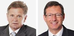 URI - Isidor Baumann (bisher), CVP, links und Josef Dittli (neu), FDP. (Bild: Keystone / Handout)