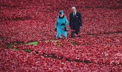 Die Queen Elizabeth II und ihr Mann, Prinz Philip, der Herzog von Edinburgh, im Oktober 2014. (Bild: Keystone)
