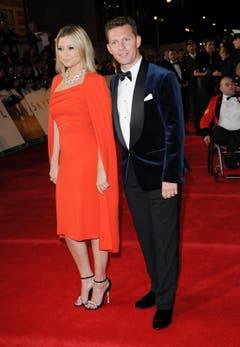 """""""Neighbours""""-Darstellerin Holly Valance und der britische Immobilien-Millionär Nick Candy. (Bild: Keystone)"""