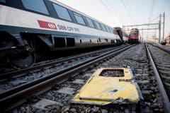 Twoi trains collide in Switzerland (Bild: Keystone / Ennio Leanza)