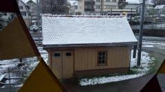 Jetzt schneit es: Wir danken Daniel Bremgartner für die Impressionen aus Gais Appenzell. (Bild: Daniel Bremgartner)