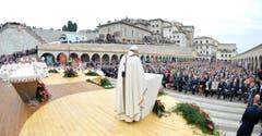 Am 5. Oktober feiert Franziskus eine Messe in Assisi. (Bild: Keystone)