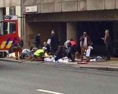 Zu einer weiteren Explosion kam es in der U-Bahn Maelbeek. Auch hier waren Tote und Verletzte zu beklagen. (Bild: EPA / Francesco Calledda)